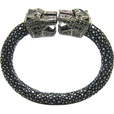 Cheetah | Stingray Bangle 92.5% BLACK