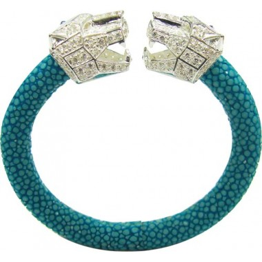 Cheetah | Stingray Bangle 92.5% AQUA