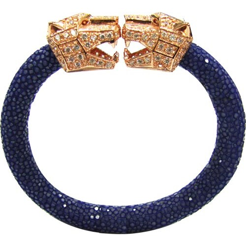 Cheetah | Stingray Bangle 92.5% NIGHT BLUE
