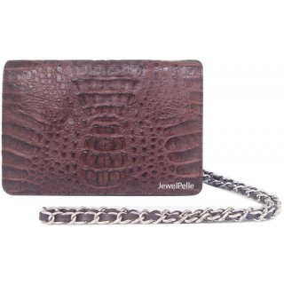 Crocodile hand bag HB0099 brown