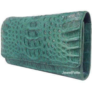 HB0168 crocodile lady hand bag green