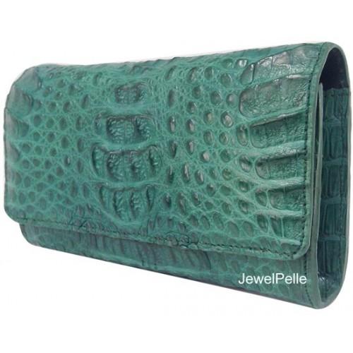 HB0168 crocodile lady hand bag green
