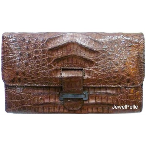 Crocodile hand bag HB0217 brown