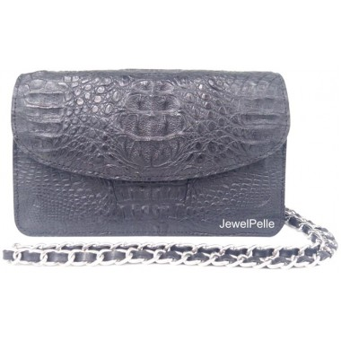 HB0224 crocodile bag black