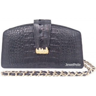 HB0290 crocodile bag black