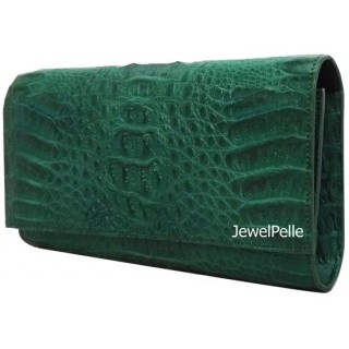 HB0323 crocodile lady bag green