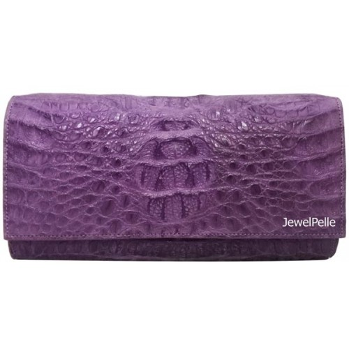 HB0323 crocodile hand bag violet