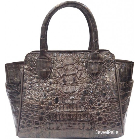 HB0325 crocodile bag metallic gold