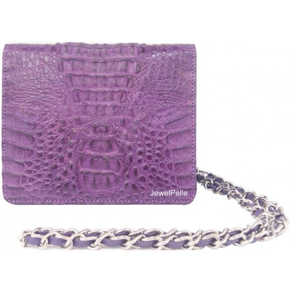 HB0335 crocodile hand bag violet
