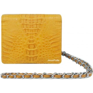 HB0335 crocodile bag yellow