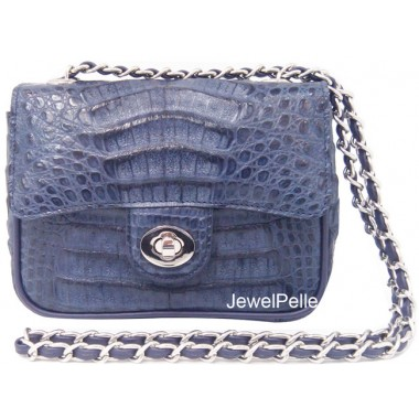 HB0347 crocodile bags navy blue