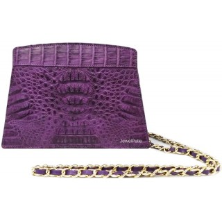 HB0448 crocodile hand bag violet