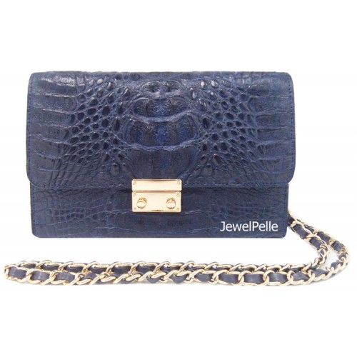HB0483 crocodile bags navy blue