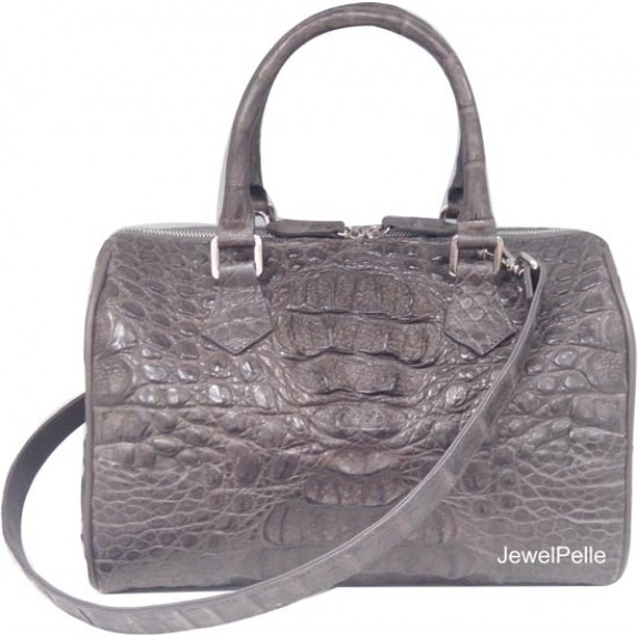 HB0486 crocodile bag grey