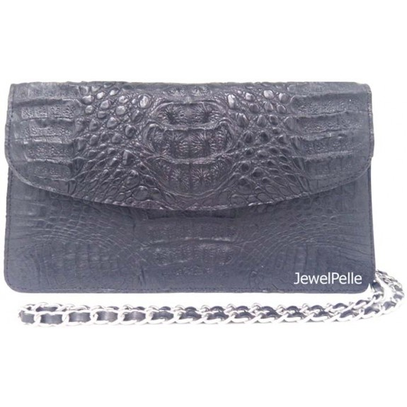 HB0491 crocodile bag black