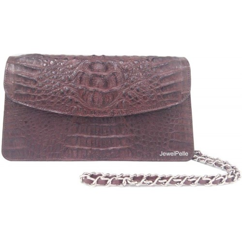 Crocodile hand bag HB0491 brown