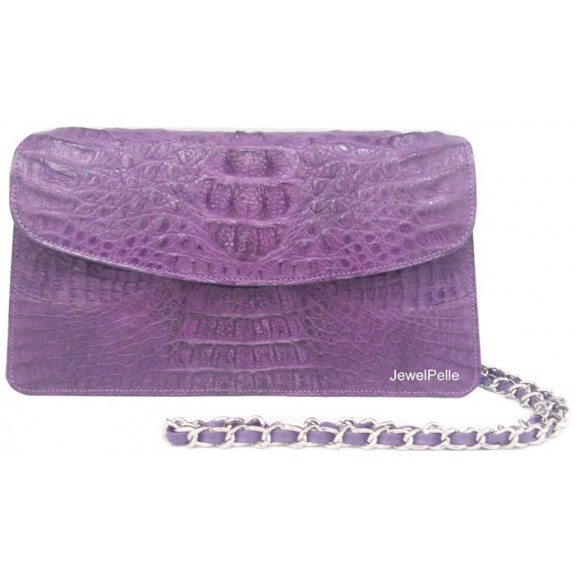 HB0491 crocodile hand bag violet