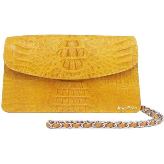 HB0491 crocodile bag yellow