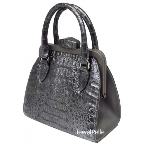HB0493 crocodile bag grey