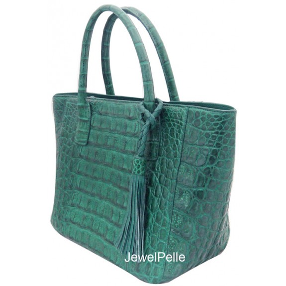 HB0515 crocodile tote green
