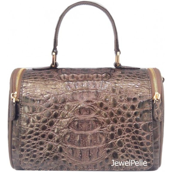HB0539 crocodile bag metallic gold
