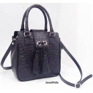 HB0569 crocodile bag black
