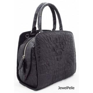 HB0722 crocodile bag black