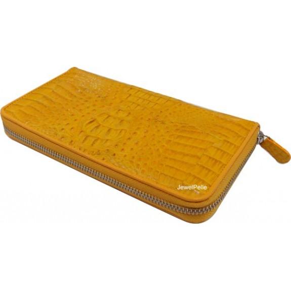 HB0367 crocodile wallet yellow