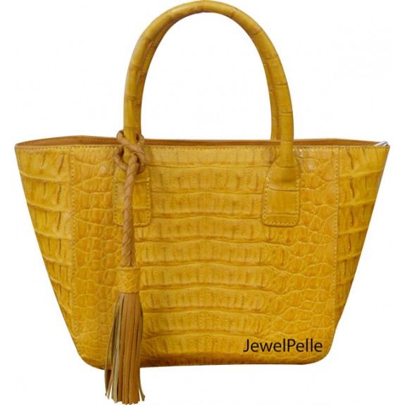 HB0354 crocodile tote yellow