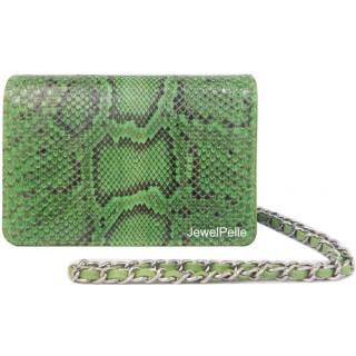 HB0099 snake hand bag spring green