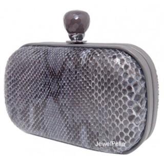 Grey python clutch HB0181