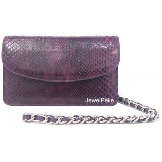 HB0224 python bag plum