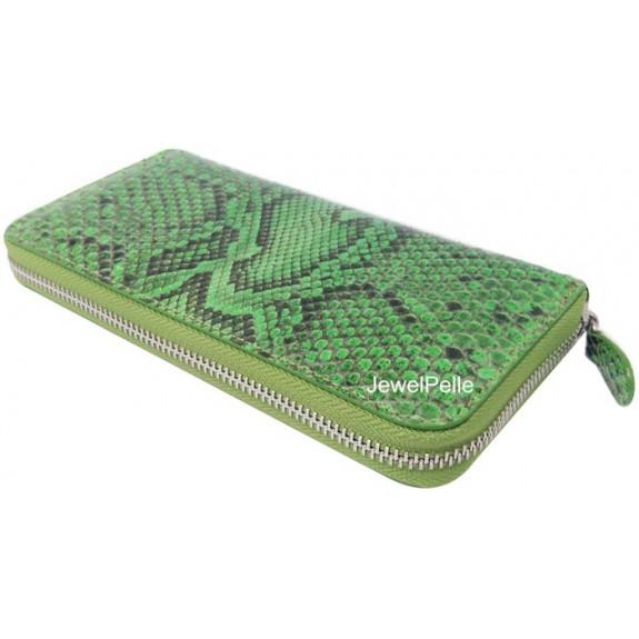 HB0367 snake wallet spring green