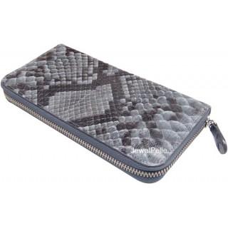 Grey python zip wallet HB0367