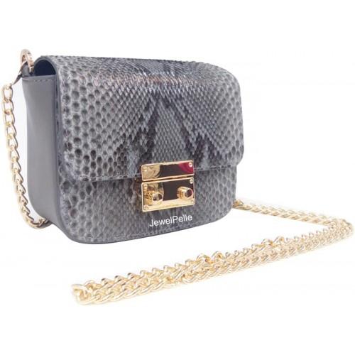 Grey python hand bag HB0482