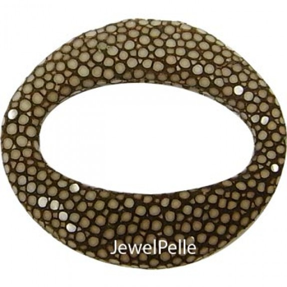 BE0010 stingray bead brown