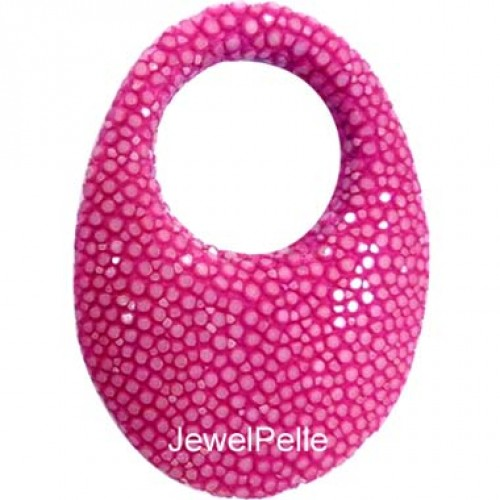 BE0056 stingray bead hot pink