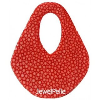BE0215 stingray bead chili red