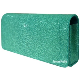 HB0011 stingray clutch turquoise