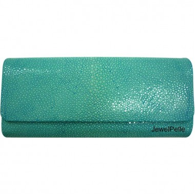 HB0037 stingray clutch turquoise