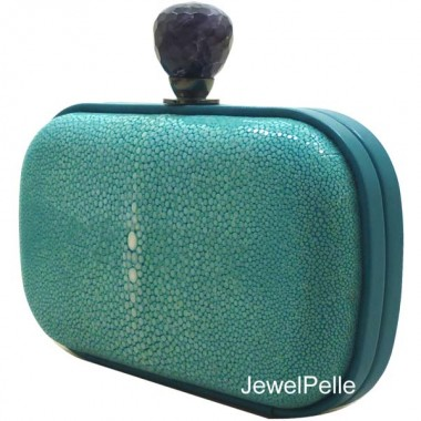 HB0181 stingray clutch turquoise