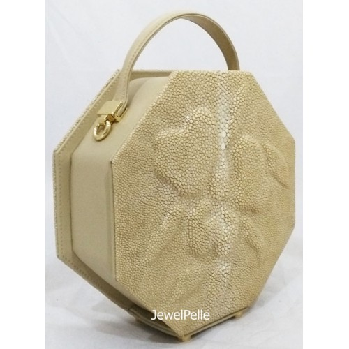 HB0505 stingray lady bag white coffee