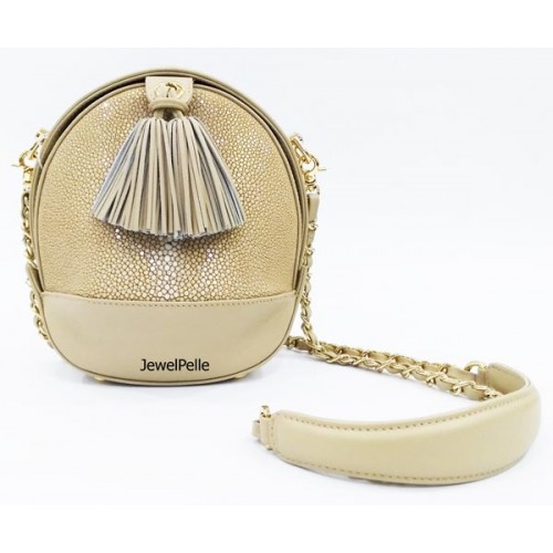 HB0638 stingray lady bag white coffee