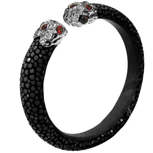 Lava Shape | BLACK黄貂鱼手镯925手镯