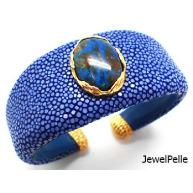 Shagreen cuff BA0587 royal blue