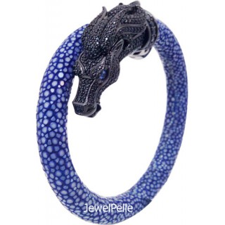 Horse Shape | BLUE黄貂鱼手镯925手镯