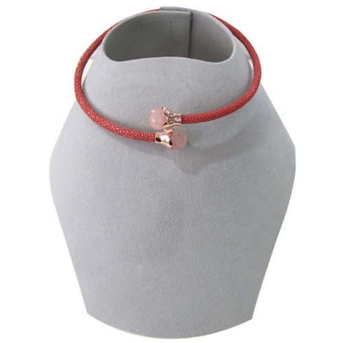 Collar Collections   Stingray Necklace   Pink