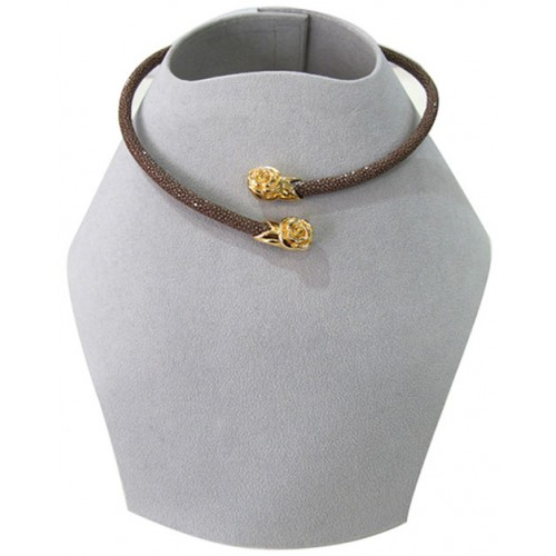 Collar Collections | Stingray Necklace | Brown