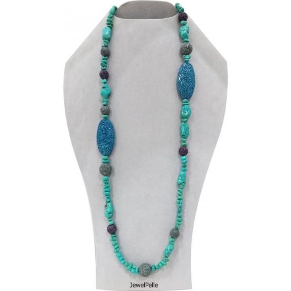 Stingray necklace NE0534 turquoise