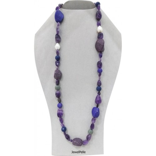 Stingray necklace NE0538 violet